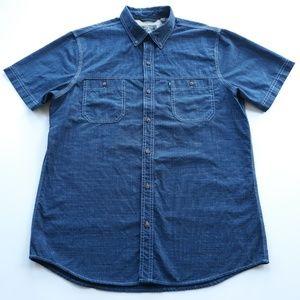 G.H. Bass & Co. Shirts - G.H. Bass & Co Mens Short Sleeve Shirt Size L Blue